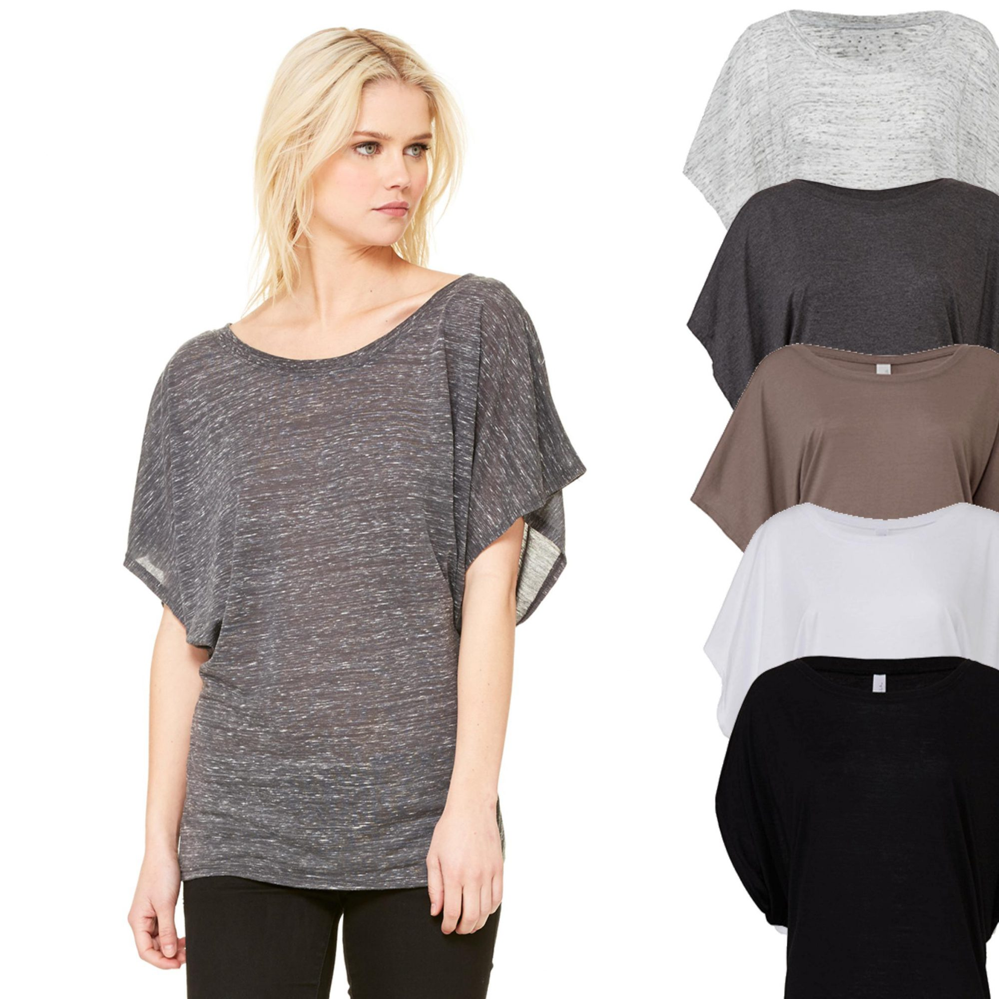new styles 5f9e8 e8a76 Bella Longshirt Tunika mit Fledermausärmel