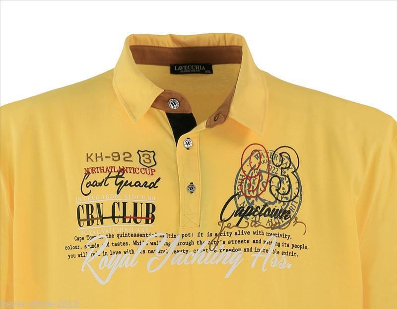 Hemd T Shirt kurzarm Rot Lavecchia Übergröße 3XL bis 8XL Herren Polo